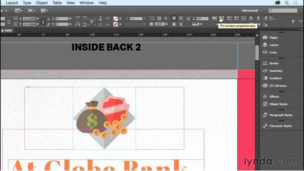 Fitting graphics to the frame: InDesign CC Essential Training (2015)