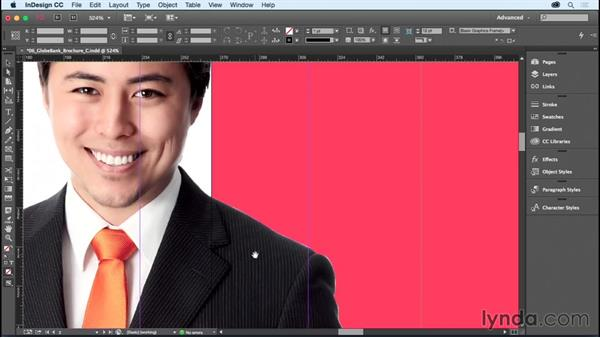 Taking advantage of image transparency and clipping paths: InDesign CC Essential Training (2015)