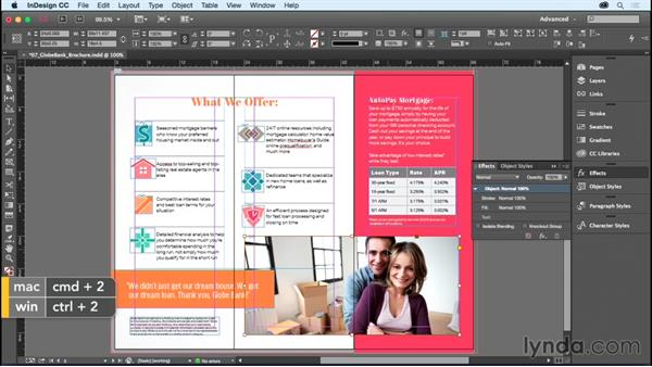 Using other transparency effects: InDesign CC Essential Training (2015)