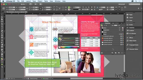 Understanding the danger (and power) of unnamed colors: InDesign CC Essential Training (2015)