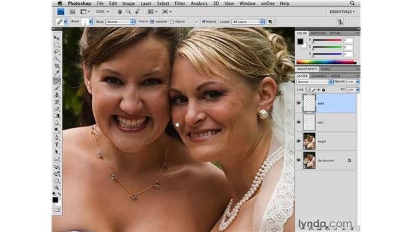Adding height and reducing wrinkles: Photoshop CS4 for Photographers