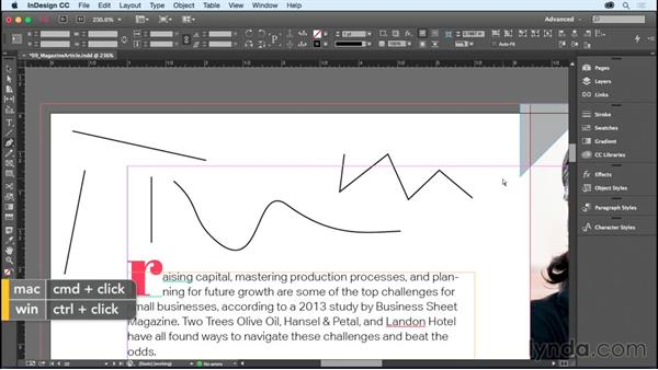Drawing and editing path and frame shapes: InDesign CC Essential Training (2015)