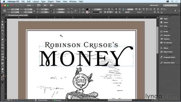 Creating text outlines: InDesign CC Essential Training (2015)