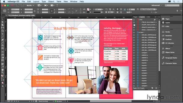Managing objects in the Layers panel: InDesign CC Essential Training (2015)