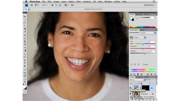 Whitening teeth: Photoshop CS4 for Photographers