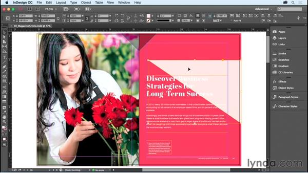 Nesting objects: InDesign CC Essential Training (2015)