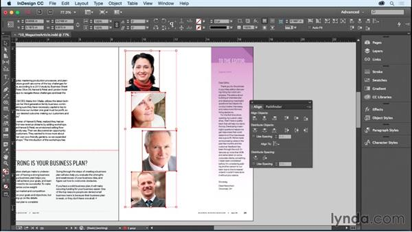 Aligning and distributing: InDesign CC Essential Training (2015)