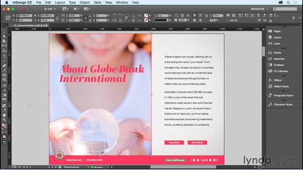 Skewing objects: InDesign CC Essential Training (2015)