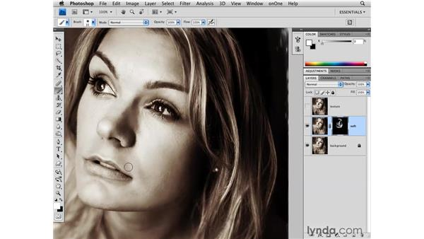 Softening skin: Photoshop CS4 for Photographers