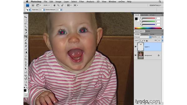 Removing red-eye: Photoshop CS4 for Photographers