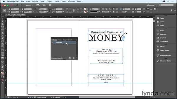 Exporting a reflowable EPUB: InDesign CC Essential Training (2015)