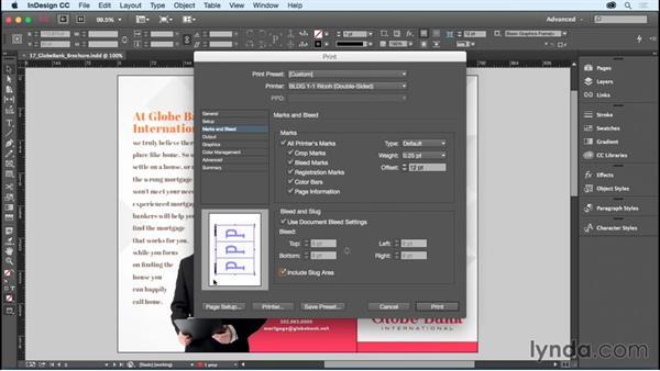 Using the Print dialog box: InDesign CC Essential Training (2015)