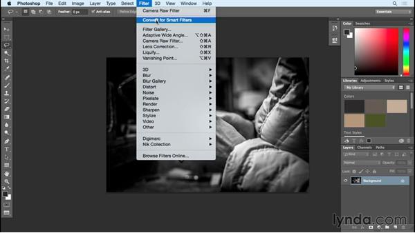 Smart filter: Black and White with Lightroom and Photoshop