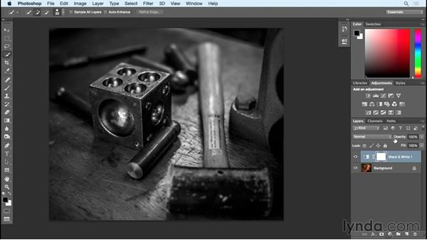 Adjusting the toning of your image : Black and White with Lightroom and Photoshop