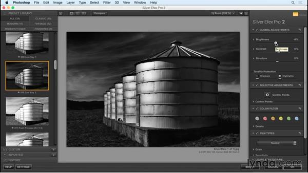 Working with the Silver Efex plugin for Photoshop : Black and White with Lightroom and Photoshop