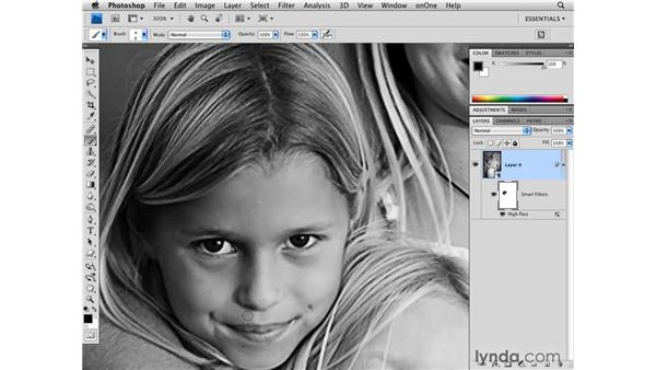 Black-and-white High Pass sharpening: Photoshop CS4 for Photographers