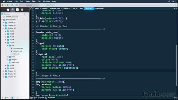 Creating a CSS logo element: Building a Responsive Portfolio Site