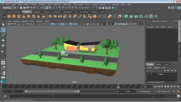 Selecting objects: Maya 2016 Essential Training
