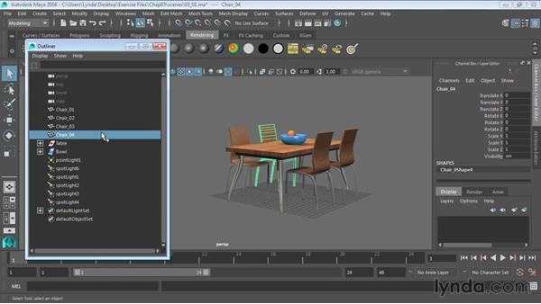 Working with the Outliner: Maya 2016 Essential Training