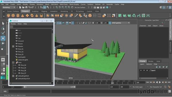 Grouping objects: Maya 2016 Essential Training