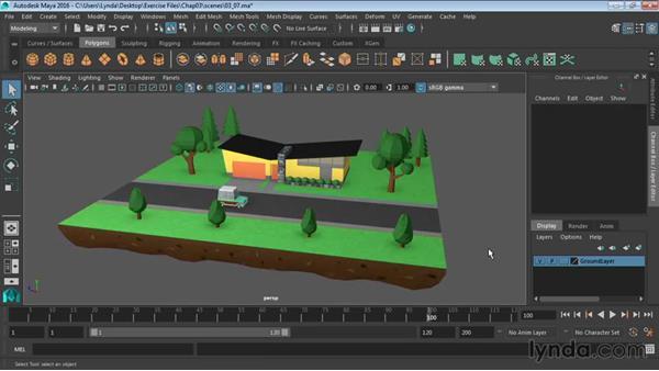 Creating layers: Maya 2016 Essential Training
