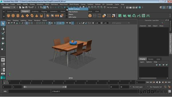 Working with selection masks: Maya 2016 Essential Training