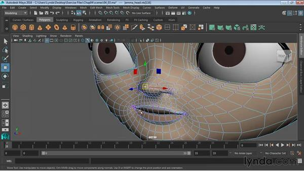 Selecting polygonal components: Maya 2016 Essential Training