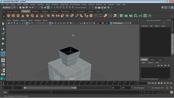 Using the Extrude tools: Maya 2016 Essential Training