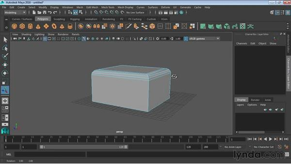 Using the Bevel tools: Maya 2016 Essential Training