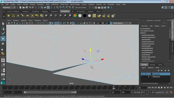 Merging components and target weld: Maya 2016 Essential Training
