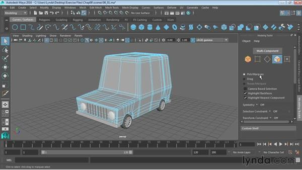 Using the Modeling Toolkit: Maya 2016 Essential Training
