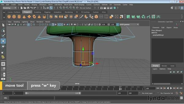 Working with subdivision surfaces: Maya 2016 Essential Training