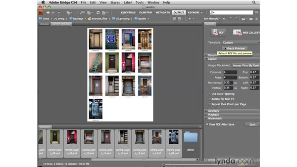Creating contact sheets: Photoshop CS4 for Photographers