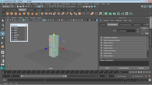 Modeling with nonlinear deformers: Maya 2016 Essential Training