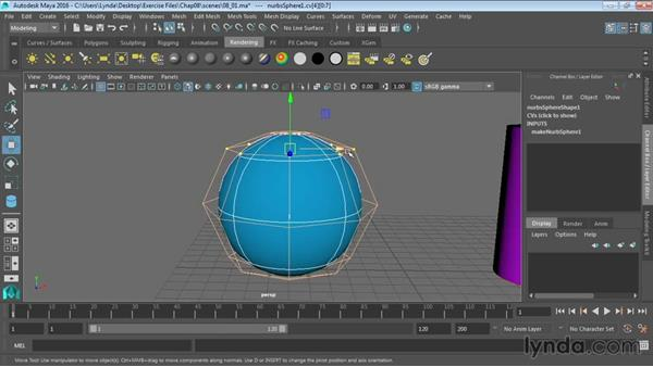 Introducing NURBS modeling and editing: Maya 2016 Essential Training