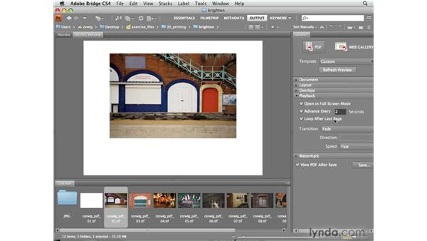 Presenting your photos as a PDF slideshow: Photoshop CS4 for Photographers