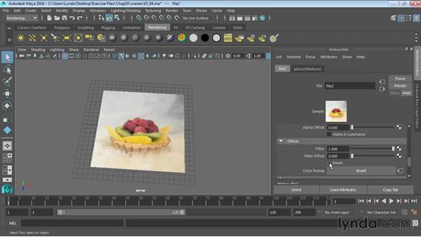 Using bitmaps as texture: Maya 2016 Essential Training
