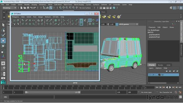 Mapping objects in the UV Editor: Maya 2016 Essential Training