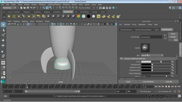 Projecting textures on NURBS surfaces: Maya 2016 Essential Training