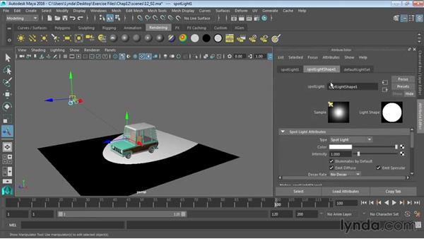Lights and lighting types in Maya: Maya 2016 Essential Training