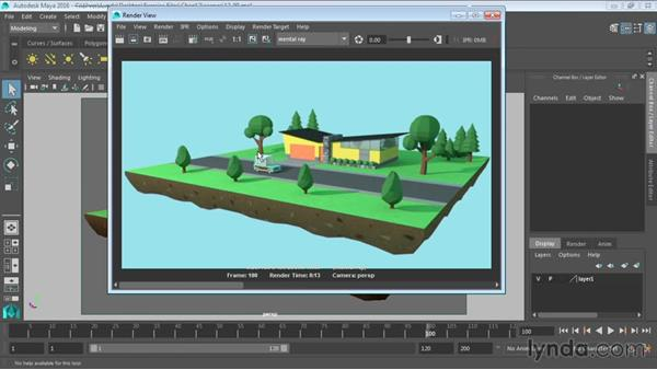 Using indirect lighting for softer shadows: Maya 2016 Essential Training
