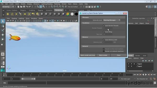 Batch rendering: Maya 2016 Essential Training