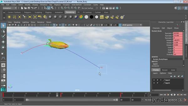 Ghosting animation: Maya 2016 Essential Training