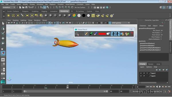 Using the Grease Pencil tool: Maya 2016 Essential Training