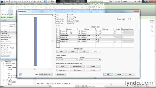 Creating exterior walls: Designing Home Plans with Revit