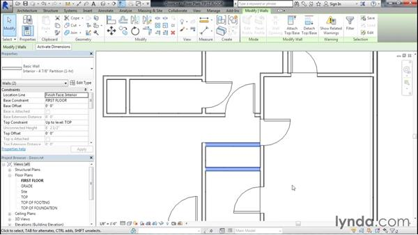 Adding doors to the project: Designing Home Plans with Revit