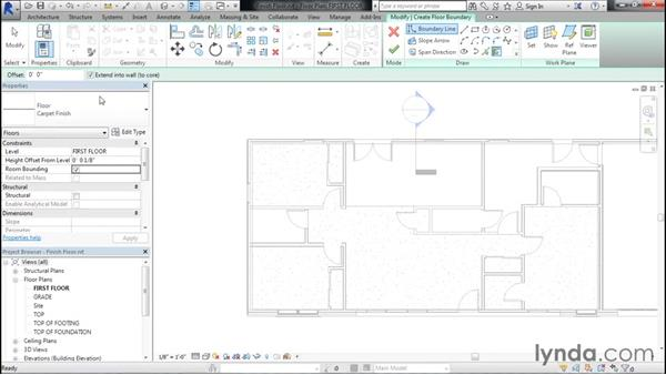 Adding finished floors to each room: Designing Home Plans with Revit