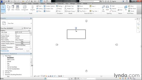Adding a basement floor: Designing Home Plans with Revit