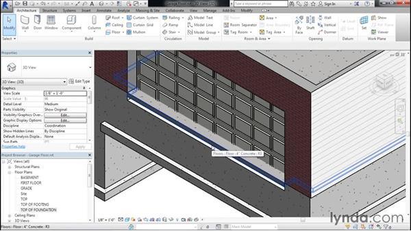 Adding a garage floor: Designing Home Plans with Revit