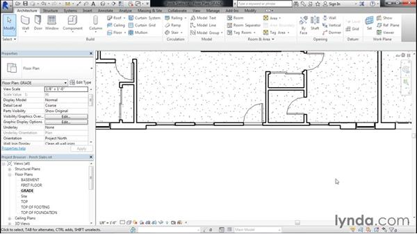 Adding front and back porch slabs: Designing Home Plans with Revit